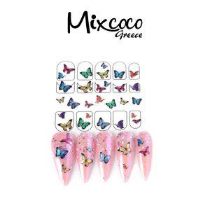 Διακοσμητικά αυτοκόλλητα νυχιών Colourful Butterflies 01