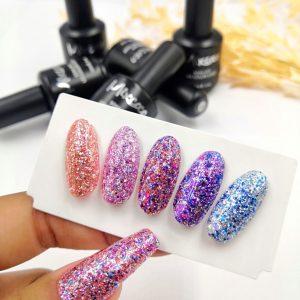 Rock Sparkling Gel 13 Color 15ml Μπλε
