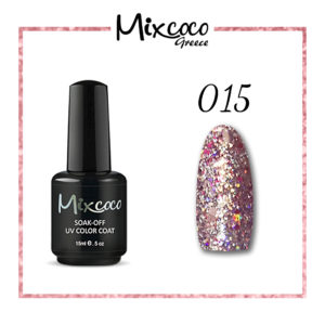Rock Sparkling Gel 15 Color 15ml Ροζ