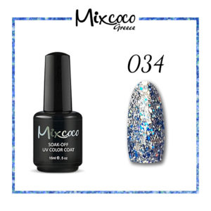 Rock Sparkling Gel 34 Color 15ml Μπλε