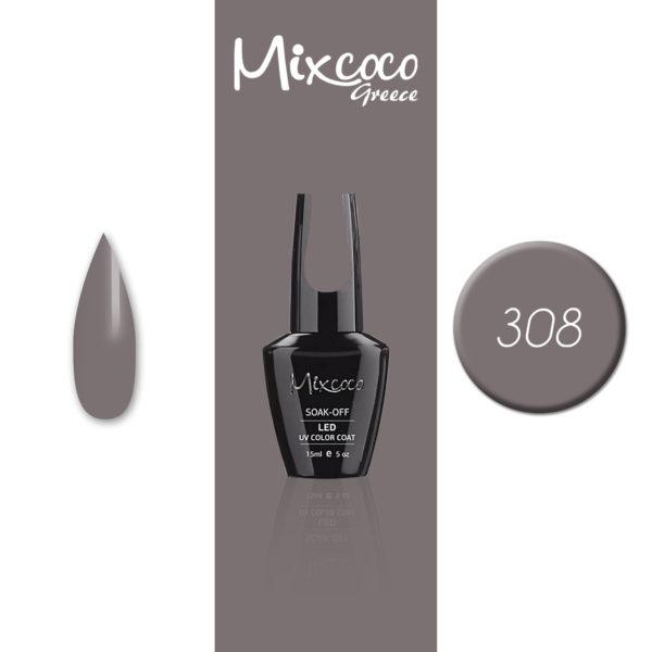 308 Ημιμόνιμο Βερνίκι Mixcoco 15ml (Ημιμόνιμα Βερνίκια)