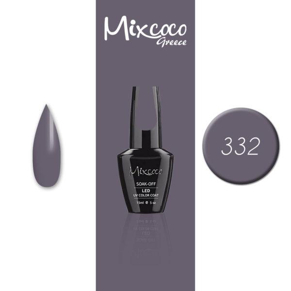 332 Ημιμόνιμο Βερνίκι Mixcoco 15ml (Ημιμόνιμα Βερνίκια)