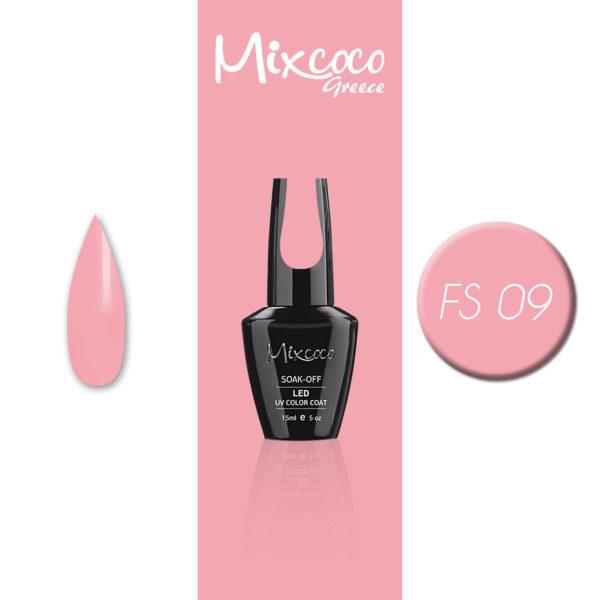 FS-009 Ημιμόνιμο Βερνίκι Mixcoco 15ml Pastel Pink (Ημιμόνιμα Βερνίκια)