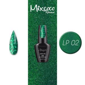 LP-002 Ημιμόνιμο Βερνίκι Mixcoco 15ml Glitter (Ημιμόνιμα Βερνίκια)