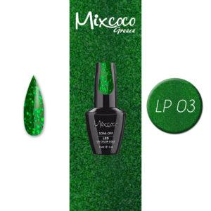 LP-003 Ημιμόνιμο Βερνίκι Mixcoco 15ml Glitter (Ημιμόνιμα Βερνίκια)