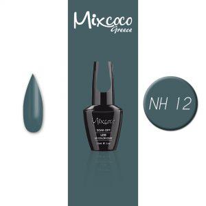 NH-012 Ημιμόνιμο Βερνίκι Mixcoco15ml Grey Flavor (Πετρόλ)