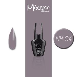 NH-004 Ημιμόνιμο Βερνίκι Mixcoco 15ml Grey Flavor (Ημιμόνιμα Βερνίκια)