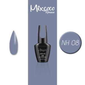NH-008 Ημιμόνιμο Βερνίκι Mixcoco 15ml Grey Flavor (Ημιμόνιμα Βερνίκια)