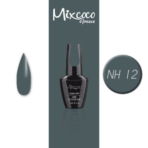 NH-012 Ημιμόνιμο Βερνίκι Mixcoco 15ml Grey Flavor (Ημιμόνιμα Βερνίκια)