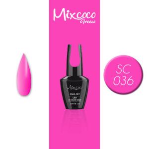 SC-036 Ημιμόνιμο Βερνίκι Mixcoco 15ml Grey Flavor (Ημιμόνιμα Βερνίκια)