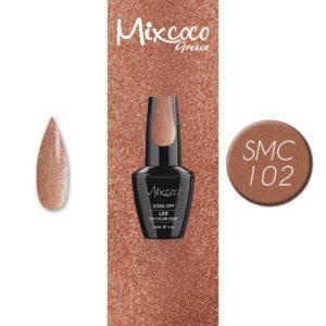 102 Ημιμόνιμο Βερνίκι Mixcoco 15ml Glitter (Ημιμόνιμα Βερνίκια)