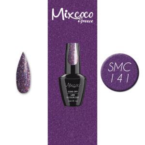 SMC 141 Ημιμόνιμο Βερνίκι Mixcoco 15ml (Μωβ Ιριδίζον)