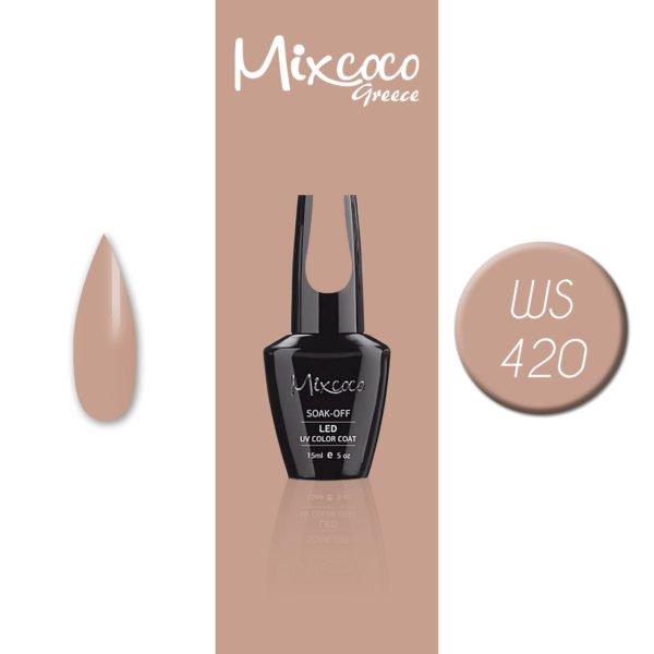 WS-420 Ημιμόνιμο Βερνίκι Mixcoco 15ml (Ημιμόνιμα Βερνίκια)