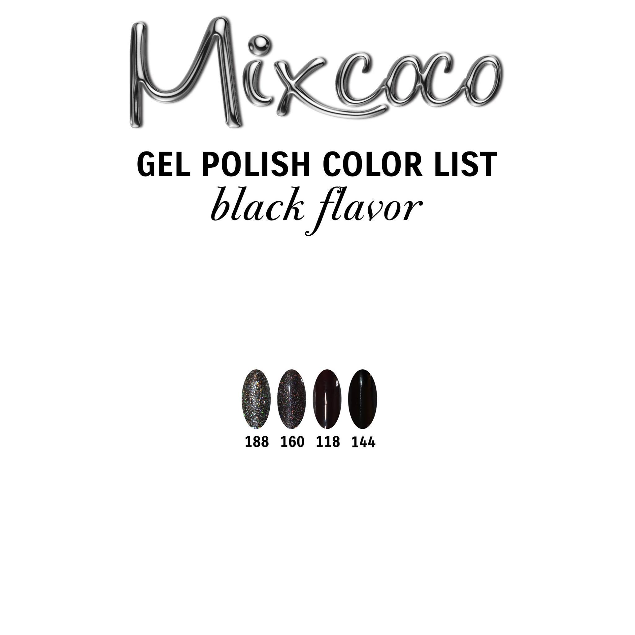 Gel Polish Color List - Black Flavor