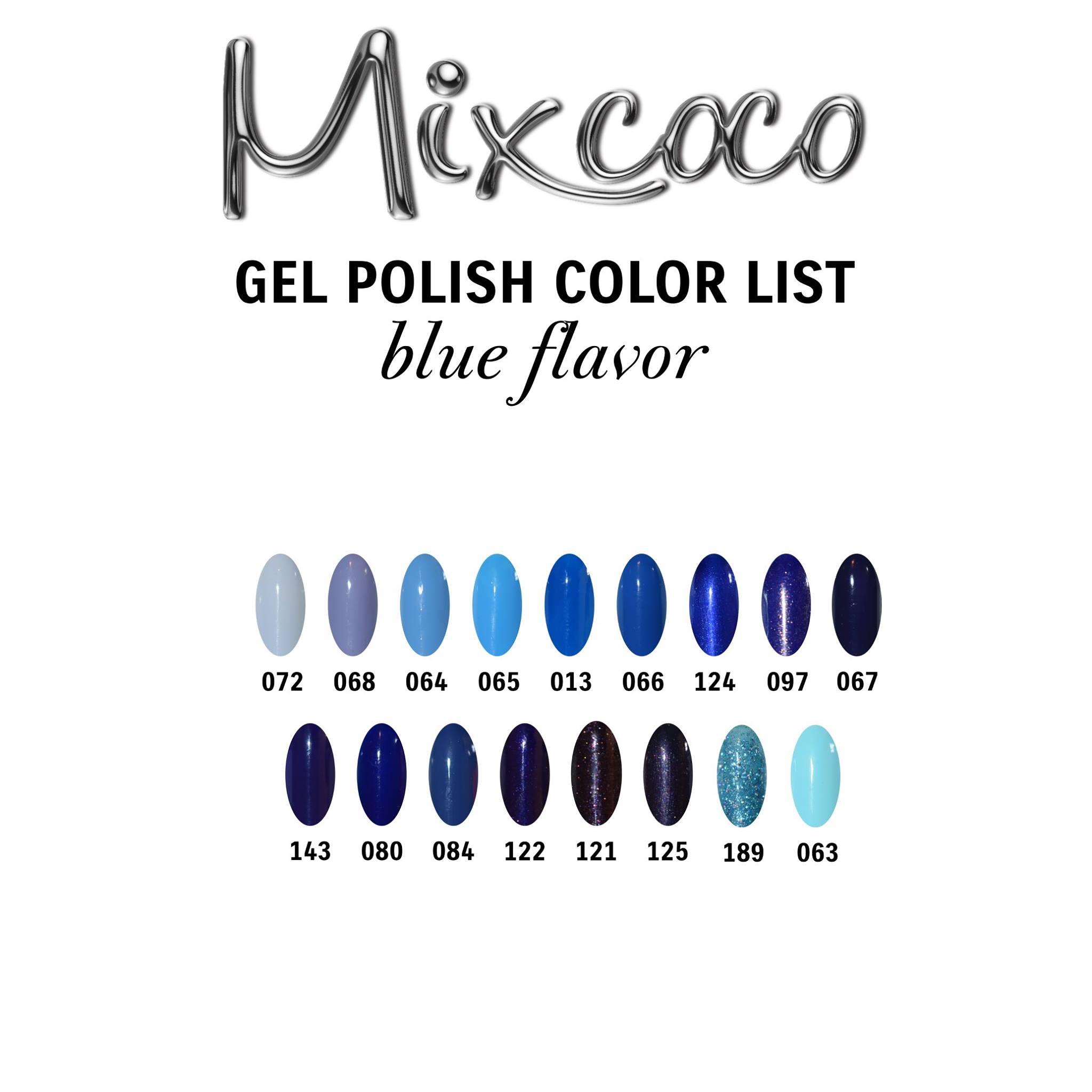 Gel Polish Color List - Blue Flavor