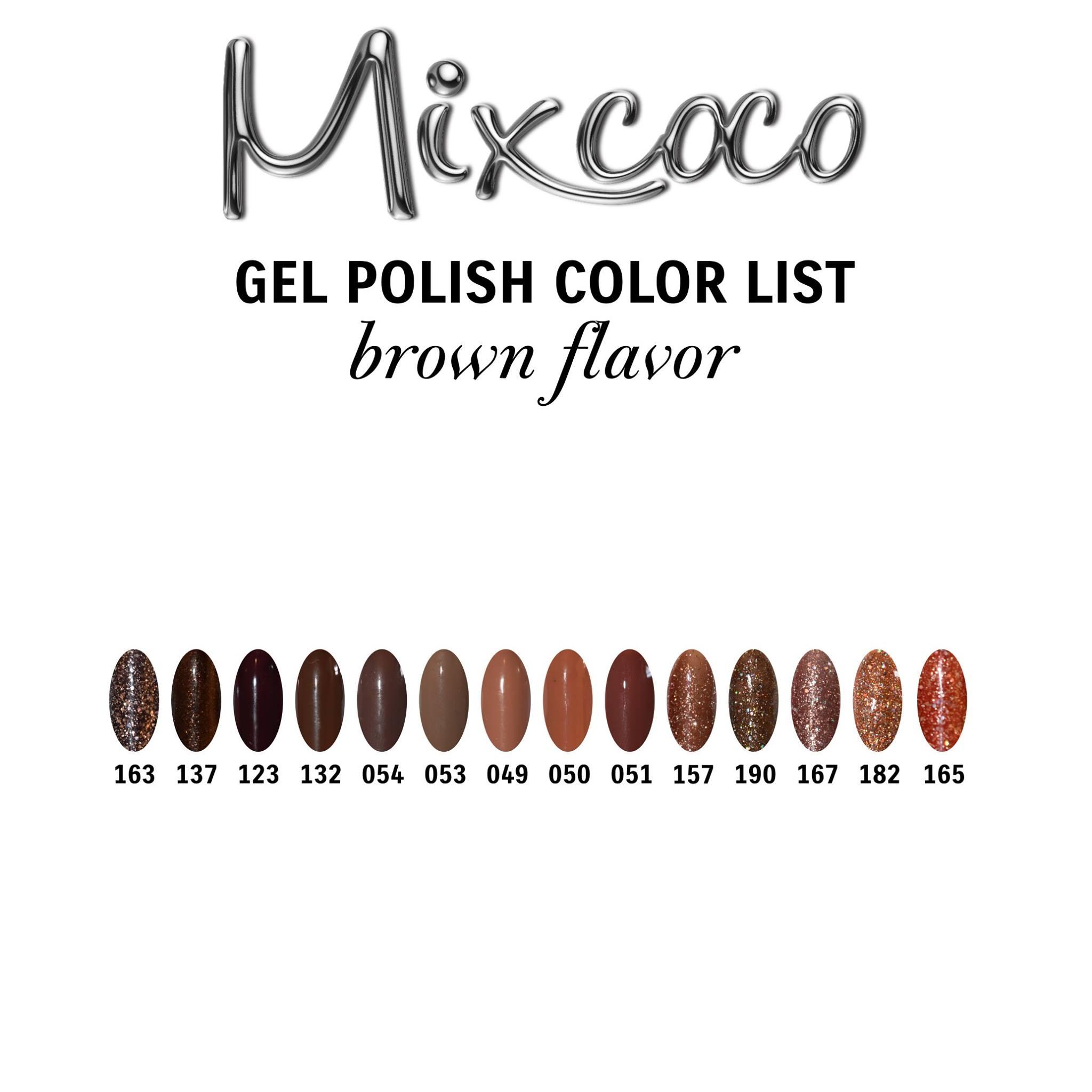 Gel Polish Color List - Brown Flavor