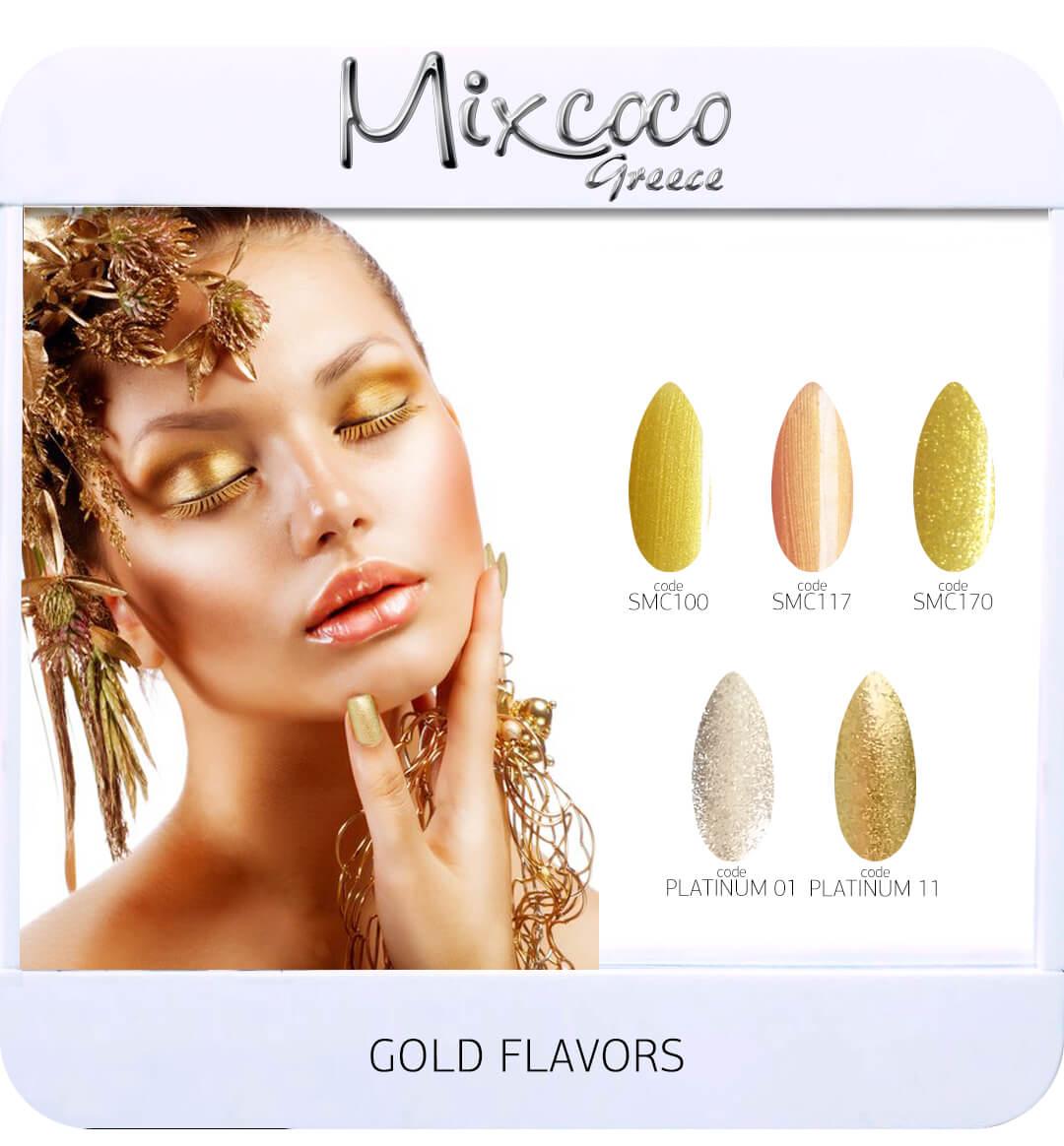 Gel Polish Color List - Gold Flavor