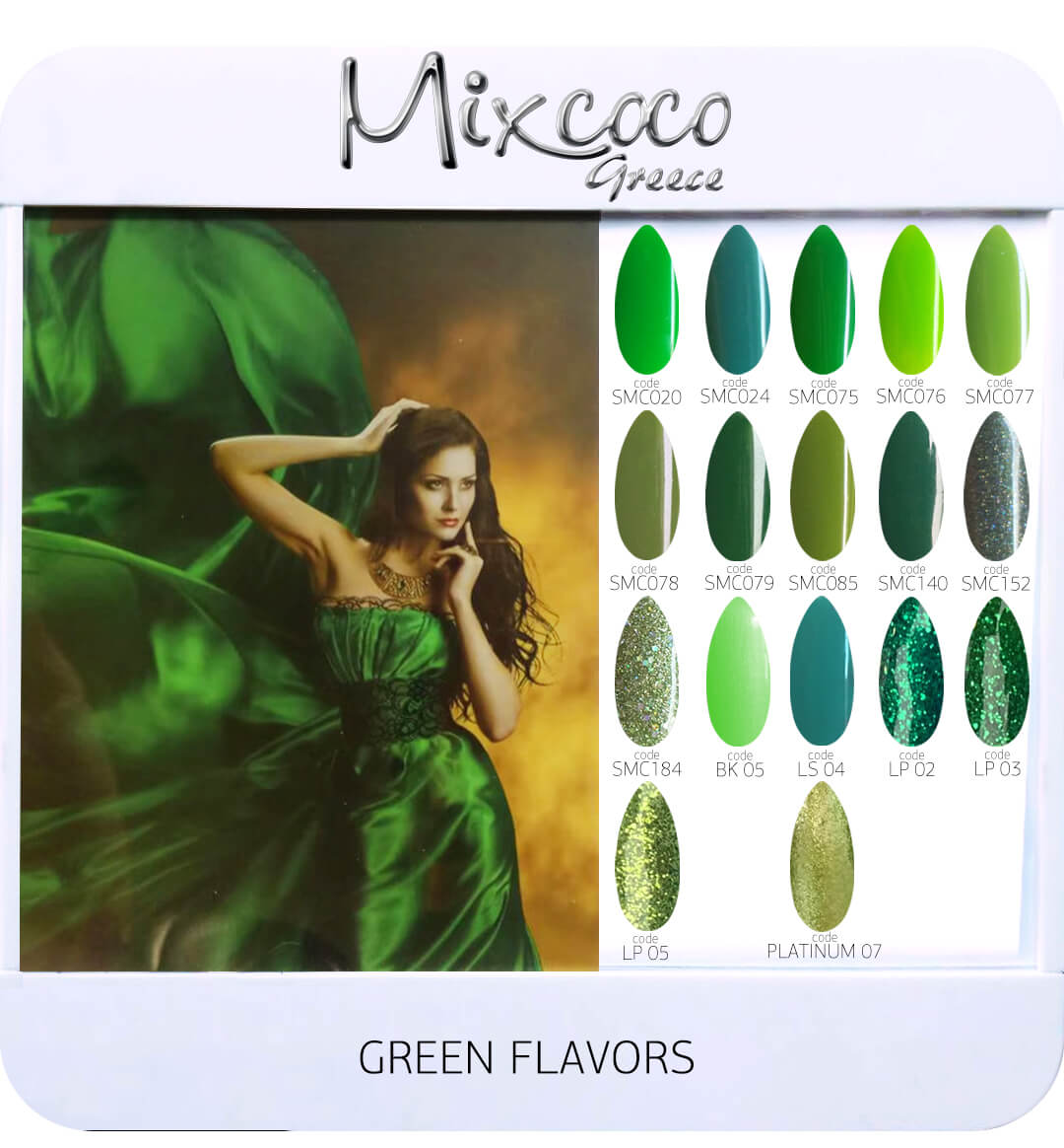 Gel Polish Color List - Green Flavor