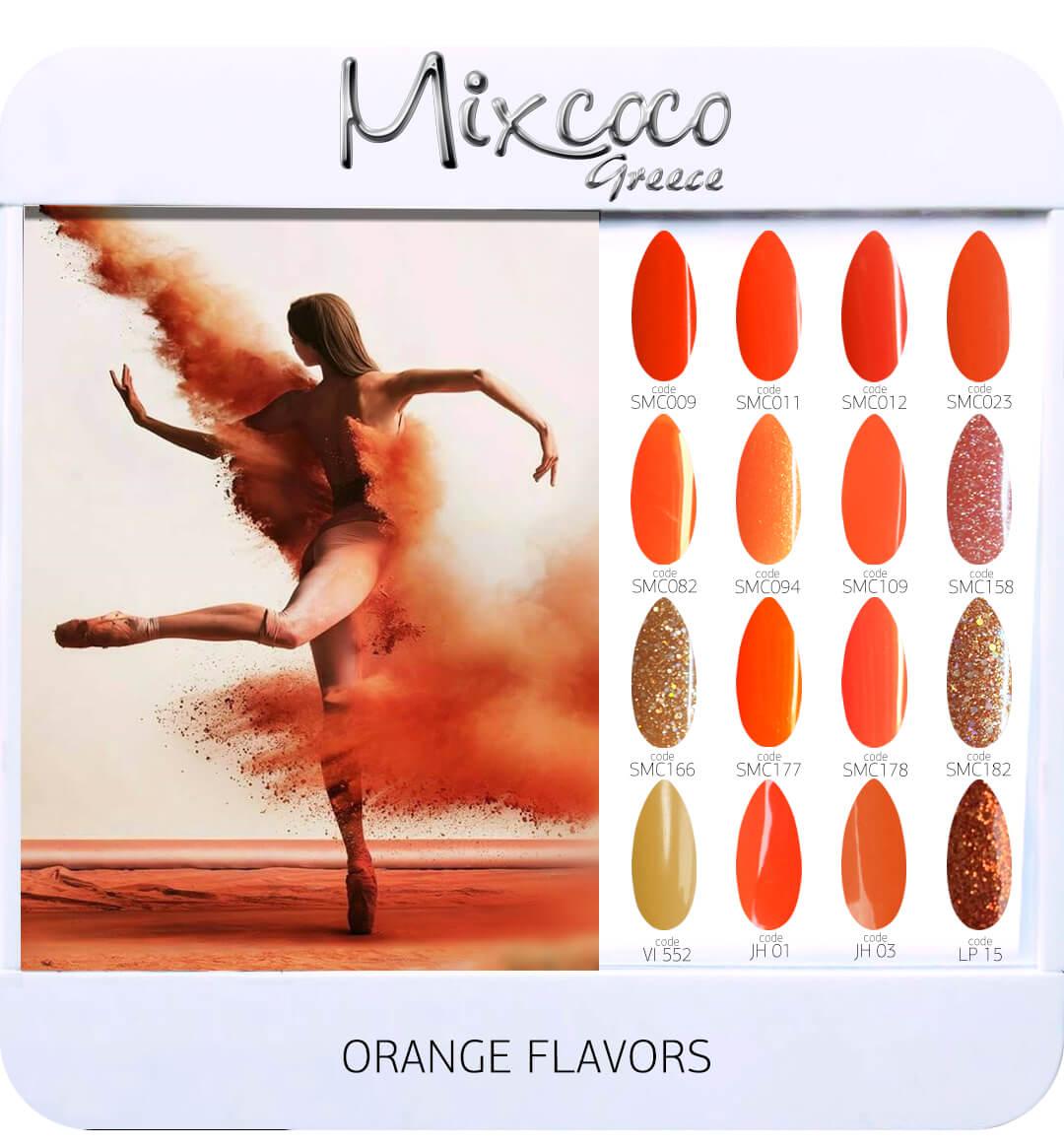 Gel Polish Color List - Orange Flavor
