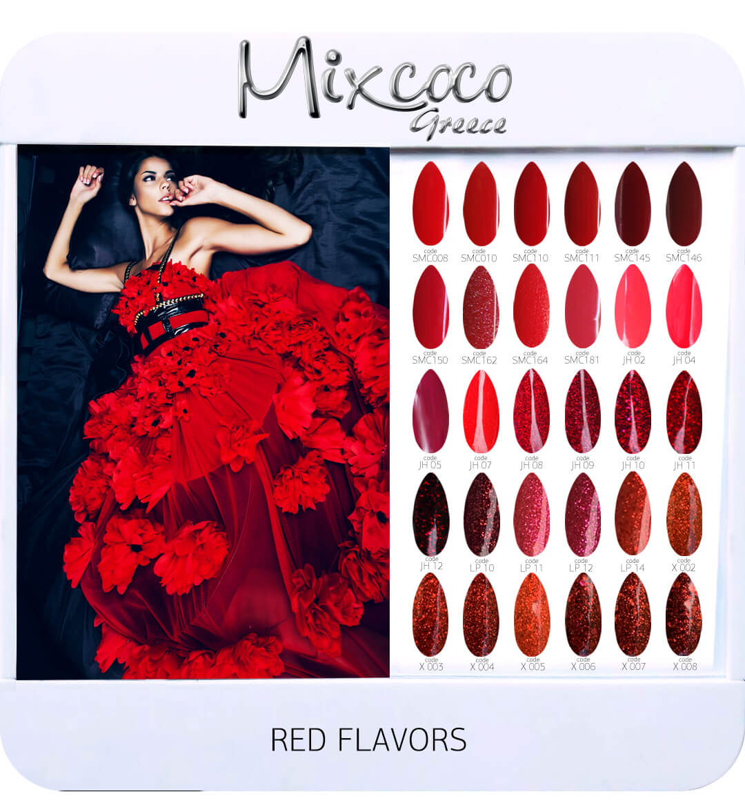 Gel Polish Color List - Red Flavor