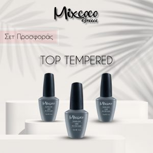 Top Tempered (Τοπ ενισχυμένο) Mixcoco 15ml Μεσαίας Ρευστότητας 3τμχ