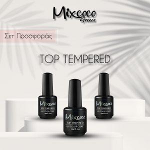 Top Tempered (Τοπ ενισχυμένο) Mixcoco 15ml Παχύρρευστη Σύνθεση 3τμχ