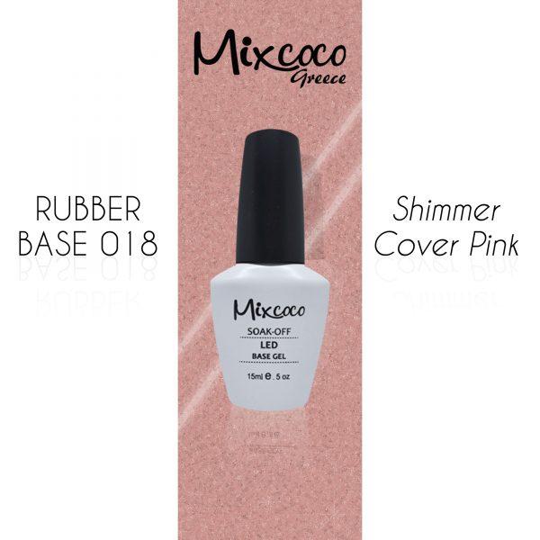 Rubber Base 18 Shimmer Cover Pink