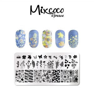 Stamp plate Floral