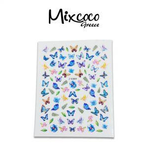 Διακοσμητικά Αυτοκόλλητα νυχιών Colourful Butterflies 02