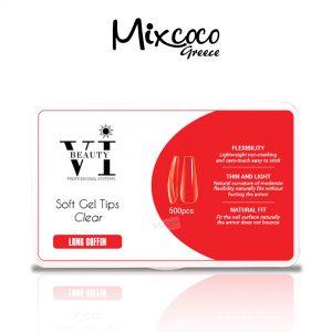 Soft Gel Tips 500τμχ Long Coffin