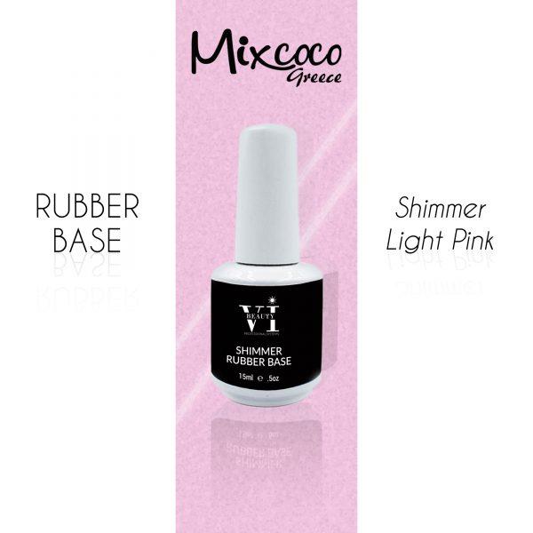 Rubber Base Shimmer Light Pink