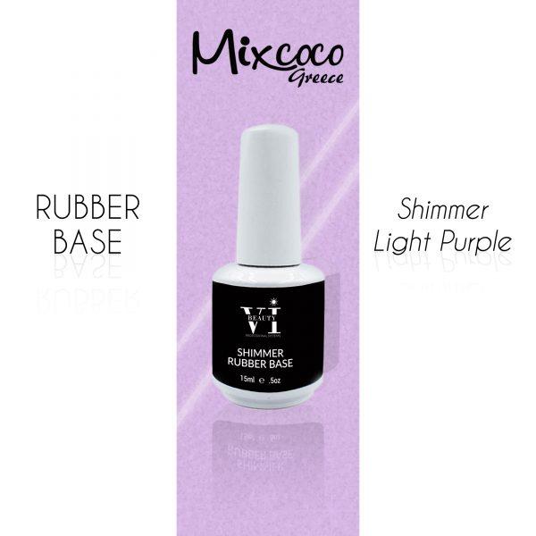 Rubber Base Shimmer Light Purple